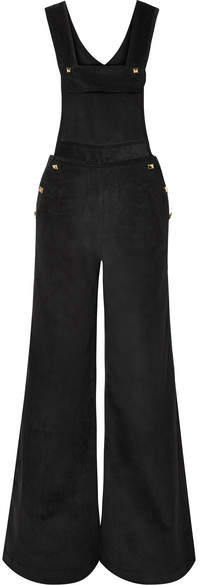 Anna Mason - Annie Studded Cotton-corduroy Jumpsuit - Black