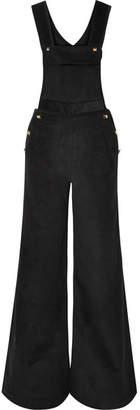 Anna Mason - Annie Studded Cotton-corduroy Jumpsuit - Black
