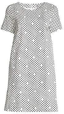 Peserico Women's Oblong Dots Shift Dress