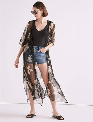 Lucky Brand FLORAL TRIM DUSTER