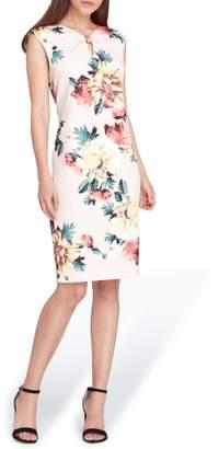 Tahari Floral Scuba Crepe Sheath Dress