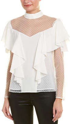 Chelsea And Walker Tulle Silk Blouse