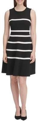 Tommy Hilfiger Scuba Crepe Fit-&-Flare Dress