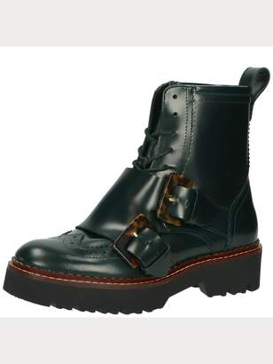 Scotch & Soda Olivine - Leather Buckle Strap Boots