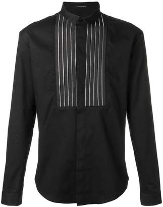 Unconditional front zip panel shirt