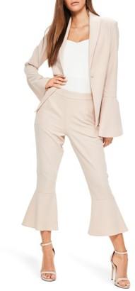 Women's Missguided Bell Sleeve Blazer $72 thestylecure.com