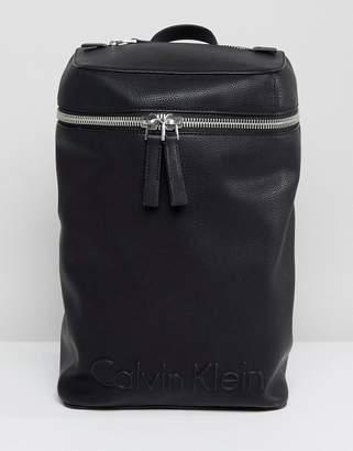 Calvin Klein Embossed Logo Top Zip Backpack