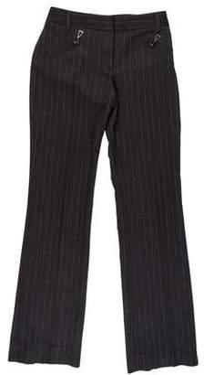 Blumarine Mid-Rise Wide-Leg Pants