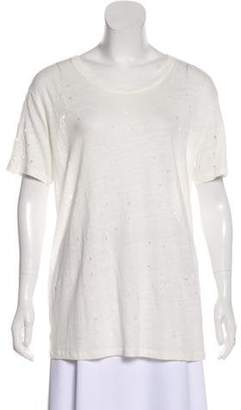 IRO Linen Distressed T-Shirt Linen Distressed T-Shirt