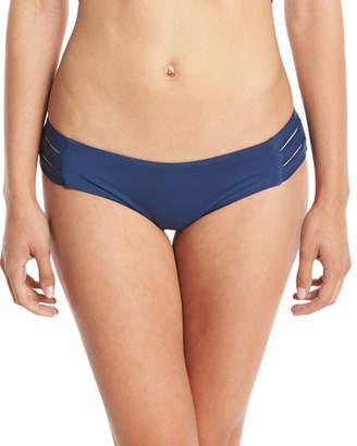 Vitamin A Emelia Solid Triple-Strap Swim Bikini Bottom