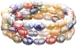 Honora STYLE Set of 3 Wildflower Baroque Cultured Pearl Stretch Bracelets