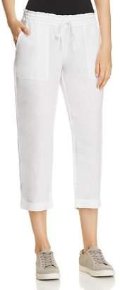 Three Dots Linen Crop Pants