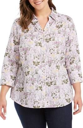 Foxcroft Mary Floral Print Shirt