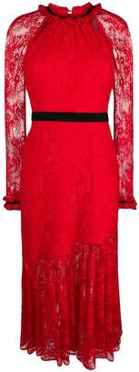 Three floor lace pattern dress