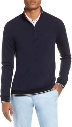 Ted Baker Peanot Slim Fit Zip Golf Sweater