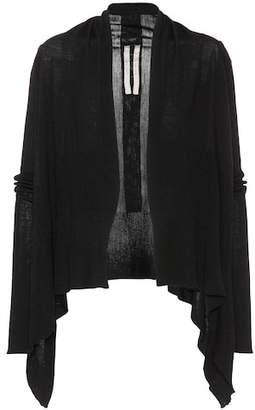 Rick Owens Draped virgin wool cardigan
