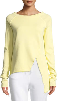 Frank And Eileen Asymmetric Cotton Sweatshirt, Yellow