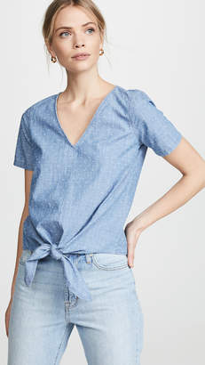 Madewell Tie Front Blouse
