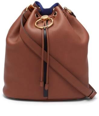 Marni Earring Medium Leather Shoulder Bag - Womens - Brown Multi
