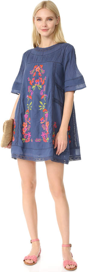 Free People Perfectly Victorian Embroidered Mini Dress 18