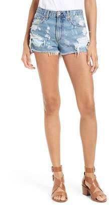 rag & bone\u002FJEAN Justine High Waist Cutoff Denim Shorts (Brokenland)