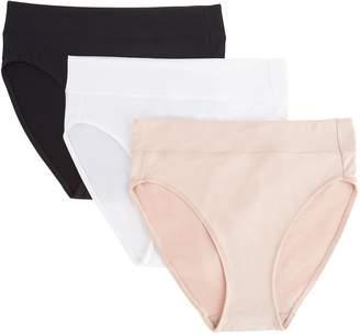 Breezies Set of 3 Body Soft Hi-Cut Panties