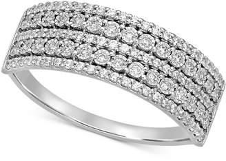 Macy's Diamond Multi-Row Band (1/4 ct. t.w.) in 14k White Gold