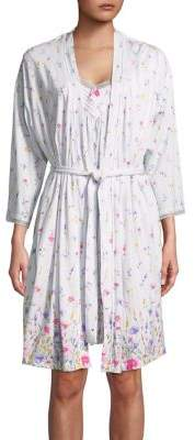 Carole Hochman Two-Piece Floral Robe and Chemise Set
