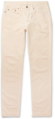 Massimo Alba Cotton-velvet Trousers - Off-white