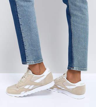 Reebok Classic Nylon Sneakers In Oatmeal