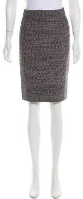Burberry Tweed Knee-Length Skirt