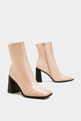 Nasty Gal Make Great Strides Patent Boots