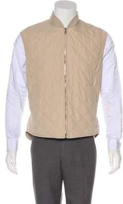 Loro Piana Quilted Zip-Up Vest