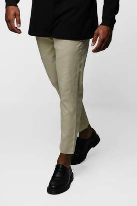 boohoo Big & Tall Slim Fit Stretch Chino