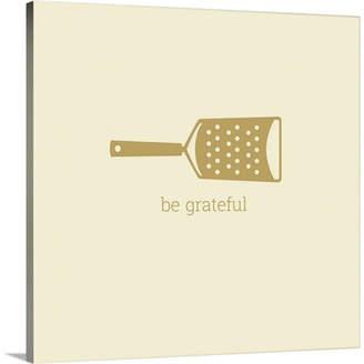 KitchenArt Great Big Canvas 'Kitchen Art Be Grateful Retro by Kate Lillyson Graphic Art Print