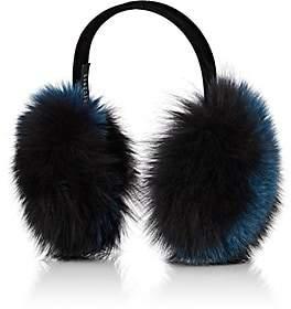 Barneys New York Women's Fox-Fur Earmuffs-Navy