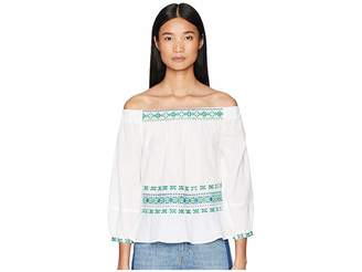 Letarte Off Shoulder Embroidered Top