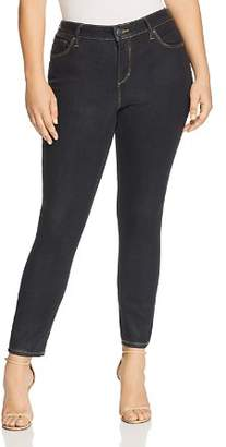 SLINK Jeans Plus Coated High Rise Skinny Jeans in Sadie