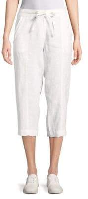 Tommy Bahama Two Palms Seamed Linen Cropped Pants