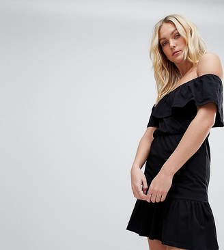 Asos Tall DESIGN Tall off shoulder sundress with tiered skirt