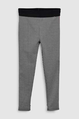 Next Girls Monochrome Check Ponte Trousers (3-16yrs)