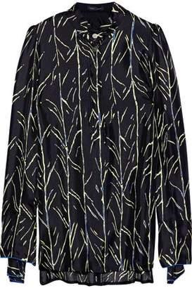 Proenza Schouler Printed Silk-Satin Twill Shirt