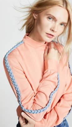 Ksenia Schnaider Sweatshirt With Denim Braids