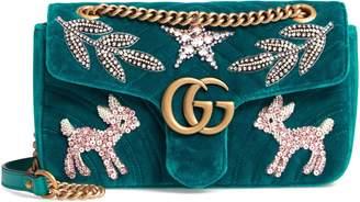 Gucci GG Marmont 2.0 Matelasse Velvet Shoulder Bag