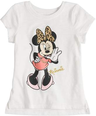 Disney's Minnie Mouse with Leopard Print Bow Graphic Tee by Jumping Beans