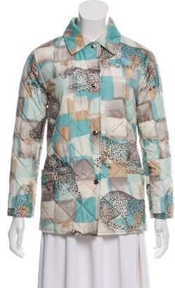 Salvatore Ferragamo Printed Quilted Jacket