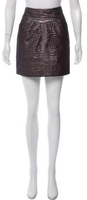 Tibi Metallic Brocade Skirt