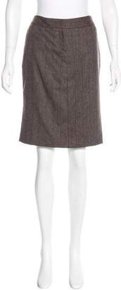 Loro Piana Wool Herringbone Skirt