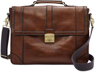 Fossil Men Leather Messenger Bag