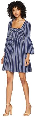 BB Dakota Call The Shots Striped Rayon Challis Dress Women's Dress
